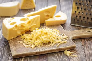 cheese block and grated cheese