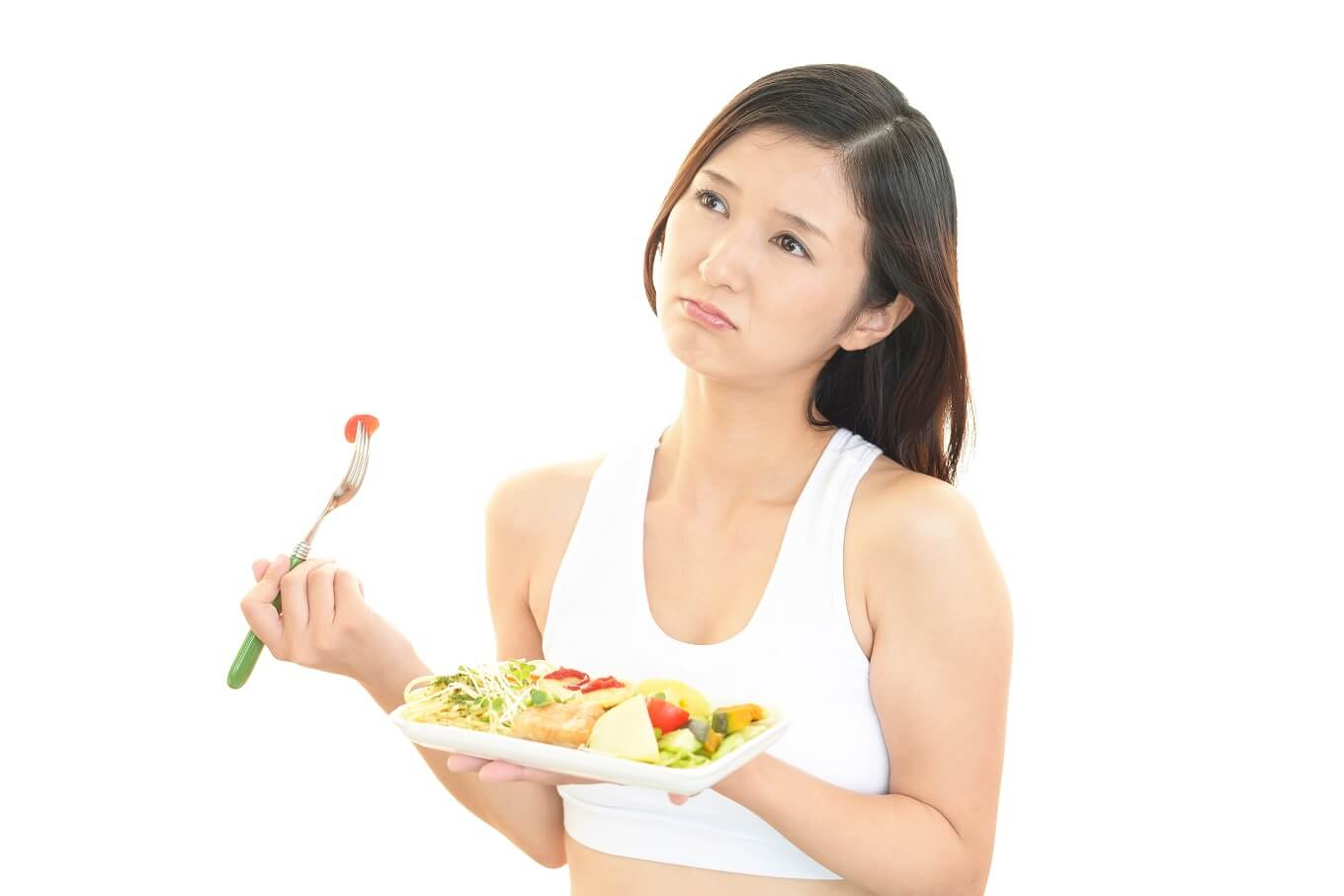 woman with no appetite doesn't like food