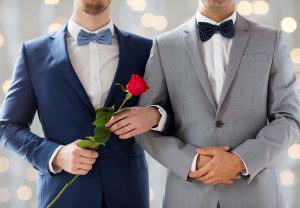 married gay men in suit, same sex marriage