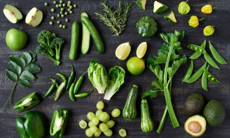 winter vegetables, different kinds of greens