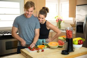 couple preparing Paleo meal