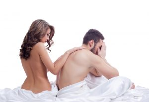 woman comforting her man having sexual issues who can use some Progentra pills