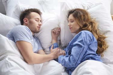 couple having a good night sleep