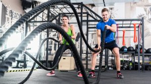 battle ropes in gym
