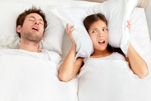 annoyed by snoring husband