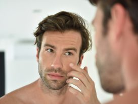 man and skin aging