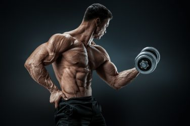 ripped man weightlifting